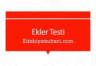 Ekler Testi