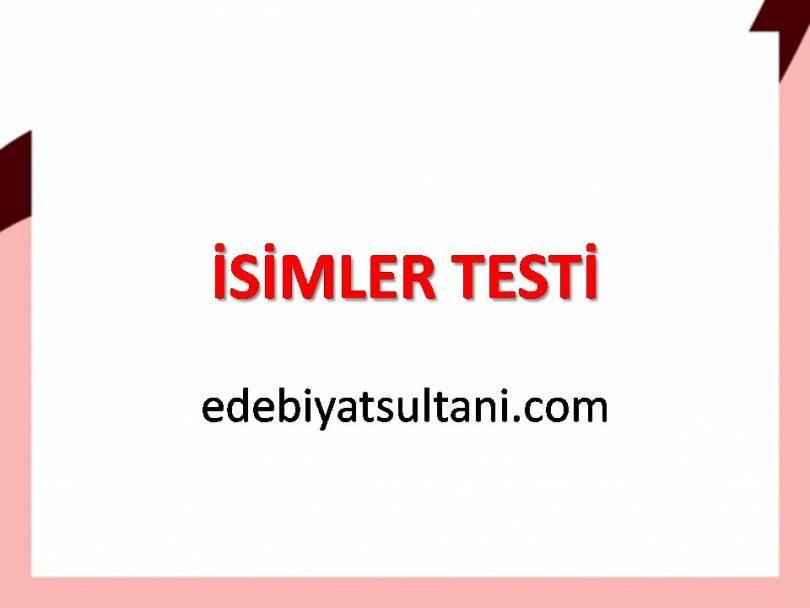 isimler testi