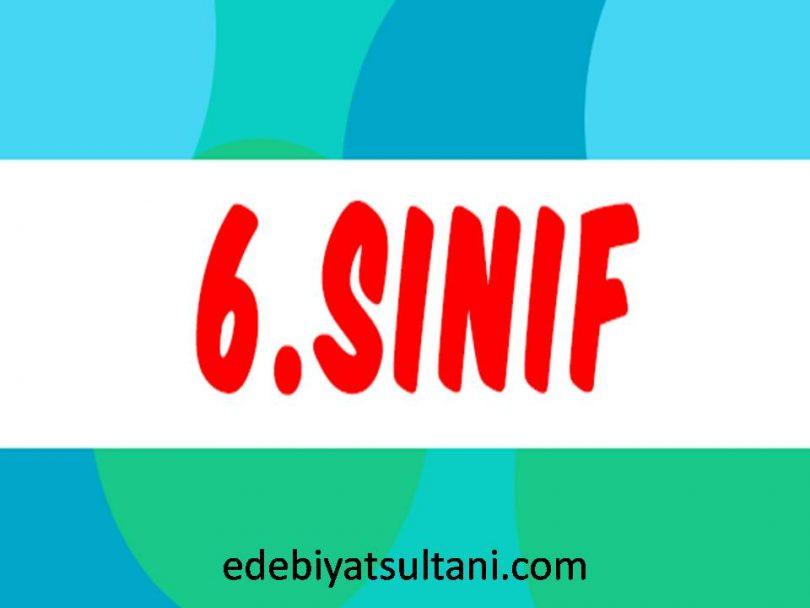 6.sınıf Türkçe