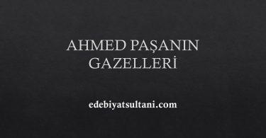 Ahmed Paşanın Gazelleri