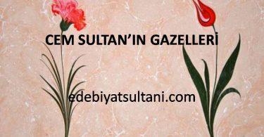 Cem Sultan'ın Gazelleri