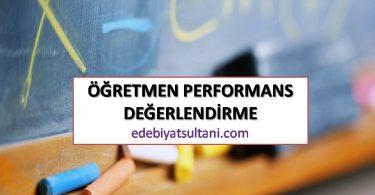 öğretmen performans değerlendirme