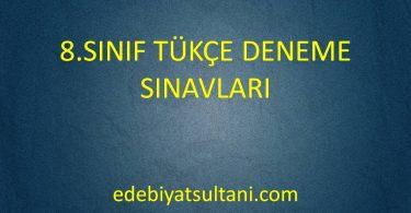8.Sınıf Türkçe Deneme Sınavları
