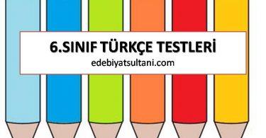 6.SINIF TÜRKÇE TESTLERİ