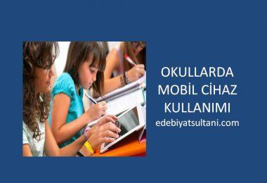 okullarda mobil cihaz kullanimi
