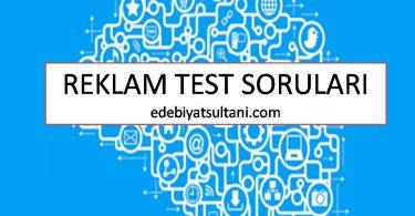 reklam test sorulari