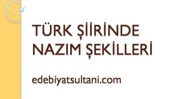 turk siirinde nazim sekilleri
