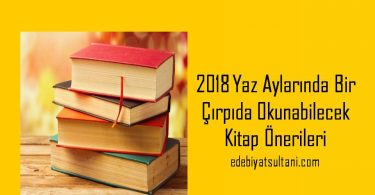 2018 Yaz Aylarinda Bir cırpıda Okunabilecek Kitap onerileri