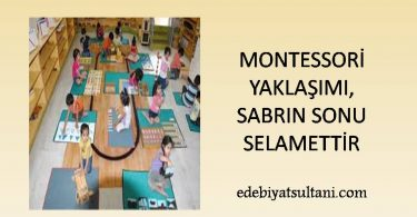 Montessori Yaklasimi sabrin sonu selamettir