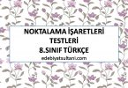noktalama isaretleri testleri 8.sinif turkce