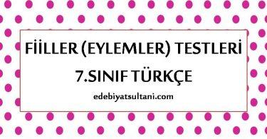 fiiller testi 7.sinif turkce