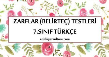 zarflar testi 7.sinif turkce