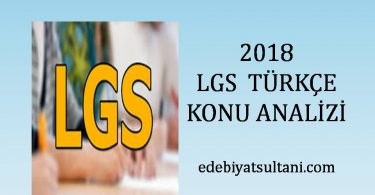 2018 lgs Turkce konu analizi