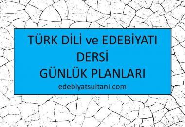 turk dili ve edebiyati günlük planlari