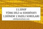 11.sinif turk dili ve edebiyatı yazili sorulari