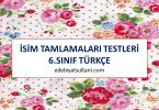 isim tamlamalari testi 6.sinif turkce