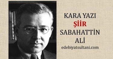 Sabahattin Ali'nin kara yazi şiiri