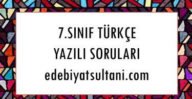7.sinif turkce yazili sorulari