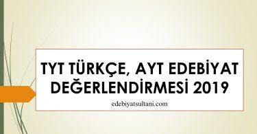 TYT Türkçe değerlendirme 2019